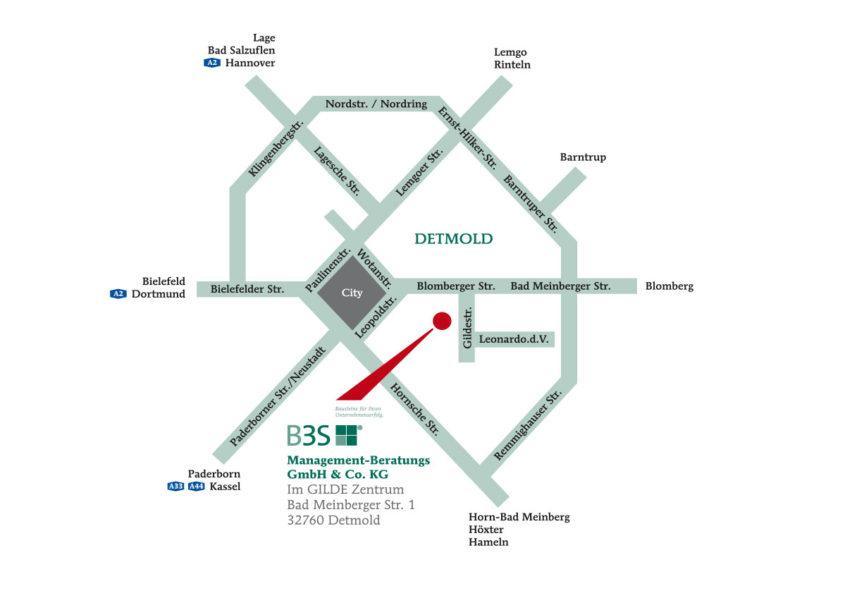 Anfahrtsskizze | Management-Beratung in Detmold, Lippe und OWL
